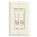 Leviton 6630-I SureSlide Electro-Mechanical Combo Fan Speed Dimmer Control; 120 Volt AC, 1.5 Amp, 300 Watt, Single Pole, Slide Switch On/Off, Ivory