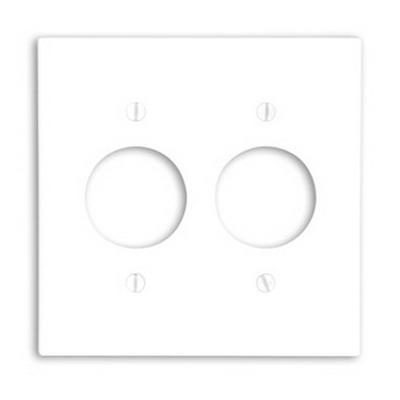 Leviton 88052 Standard Size 2-Gang Single Receptacle Plate; Device Mount, Thermoset, White