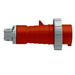 Leviton 430P7W Watertight Pin and Sleeve Plug; 30 Amp, 480 Volt, 3-Pole, 4-Wire, 3 Phase, Screw Terminal, Red