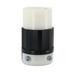 Leviton 3433-C Black & White® Non-NEMA Polarized Female Twist Lock Connector; 30 Amp, 120/208 Volt AC, 4-Pole, 4-Wire, Black/White