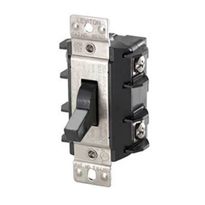 Leviton MS302-DS 1 Phase AC Motor Starting Toggle Switch; 2-Pole, SPDT, 600 Volt, 30 Amp, Black