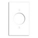 Leviton 80720-W Standard Size 1-Gang Single Locking Receptacle Plate; Device Mount, Thermoplastic Nylon, White