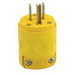 Leviton 515PV Polarized Grounding Straight Blade Plug; 15 Amp, 125 Volt, 2-Pole, 3-Wire, NEMA 5-15P, Yellow
