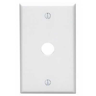 Leviton 84017-40 Standard Size 1-Gang Wallplate; Box Mount, 302 Stainless Steel