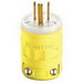 Leviton 1447 Dustguard Grounding Straight Blade Male Plug; 15 Amp, 125 Volt, 2-Pole, 3-Wire, NEMA 5-15P, Yellow