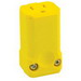 Leviton 5259-VY Python® Grounding Polarized Straight Blade Connector; 15 Amp, 125 Volt AC, 2-Pole, 3-Wire, NEMA 5-15R, Yellow