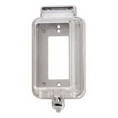 Leviton 5977-CL While-In-Use Raintight 1-Gang Weather-Resistant Cover; Device Mount, Thermoplastic, Clear
