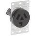 Leviton 5207 Straight Blade Power Outlet Receptacle; Flush Mount, 125/250 Volt, 30 Amp, 3-Pole, 3-Wire, NEMA 10-30R, Black