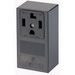 Leviton 55054 Industrial Grade Straight Blade Power Receptacle; Surface Mount, 125/250 Volt, 30 Amp, 3-Pole, 4-Wire, NEMA 14-30R, Black