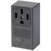 Leviton 55050 Industrial Straight Blade Power Receptacle; Surface Mount, 125/250 Volt, 50 Amp, 3-Pole, 4-Wire, NEMA 14-50R, Black