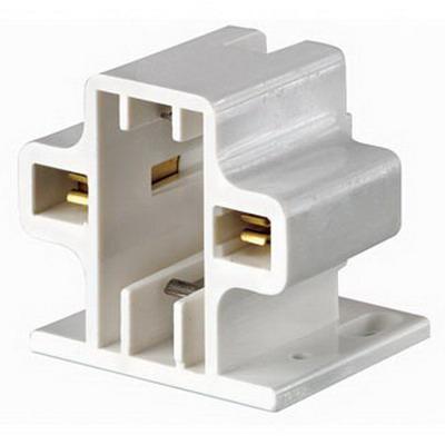 Leviton 26719-200 Compact Fluorescent Lampholder; 600 Volt, 75 Watt, Screw-Down Mount, White