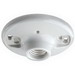 Leviton 9875 Keyless Incandescent Lampholder; 250 Volt, 660 Watt, Medium Base, Twist-lock, Box Mount, White