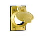 Leviton 7788-CR 1-Gang Weather-Resistant Cover; FS Box Mount, Cast Aluminum, Yellow