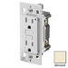 Leviton 7599-C0T SmartlockPro® Cheetah™ GFCI Receptacle; Wall Mount, 125 Volt, 15 Amp, 2-Pole, 3-Wire, NEMA 5-15R, Almond