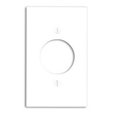 Leviton 80720-GY Standard Size 1-Gang Single Receptacle Plate; Device Mount, Thermoplastic Nylon, Gray