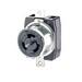 Leviton CS8469 Black & White® #2CD California-Style Locking Receptacle; Box/Flush Mount, 480 Volt AC, 50 Amp, 2-Pole, 3-Wire, Black