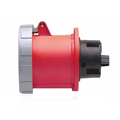 Leviton 460R7W Polarized North American Pin and Sleeve Receptacle; 60 Amp, 480 Volt, 3-Pole, 4-Wire, Steel Terminal Screws, Red