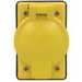 Leviton 7420-CR 1-Gang Weather-Resistant Cover; FS Box Mount, Glass-Filled Thermoplastic, Yellow