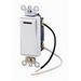 Leviton 5649-2W Decora Plus® Commercial Rocker Lighted Handle AC Quiet Switch; 1-Pole, 277 Volt, 20 Amp, White