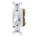 Leviton 54521-2W Commercial Toggle Framed AC Quiet Switch; 1-Pole, 120/277 Volt AC, 20 Amp, White