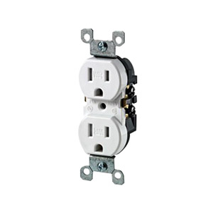 Leviton W5320-T0I Weather-Resistant Tamper-Resistant Straight Blade Duplex Receptacle Wallplate Mount 125 Volt 15 Amp 2-Pole 3-Wire NEMA 5-15R Ivory