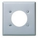 Leviton S701-40 Standard Size 2-Gang Single Receptacle Plate; Device Mount, 302 Stainless Steel