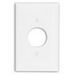 Leviton PJ7-I Midway Size 1-Gang Single Receptacle Plate; Device Mount, Thermoplastic Nylon, Ivory