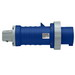 Leviton 560P9W Watertight Pin and Sleeve Plug; 60 Amp, 120/208 Volt AC, 4-Pole, 5-Wire, Screw Terminal, Blue