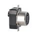 Leviton 6369CR Black & White® #2CD Corrosion-Resistant Locking Receptacle; Flush Mount, 125/250 Volt, 50 Amp, 3-Pole, 4-Wire, Black