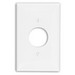 Leviton PJ7-W Midway Size 1-Gang Single Receptacle Plate; Device Mount, Thermoplastic Nylon, White