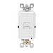 Leviton X7590-W SmartlockPro® Slim Blank Face GFCI Receptacle; Wall Mount, 125 Volt AC, 20 Amp, 2-Pole, 3-Wire, White