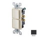 Leviton 5634-E Decora® AC Combination Switch; 120/277 Volt AC, 15 Amp, 1-Pole, Grounding, Black