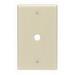 Leviton PJ11-W Midway Size 1-Gang Wallplate; Strap Mount, Thermoplastic Nylon, White