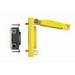 Leviton 67W76 Wetguard® Corrosion-Resistant Watertight Industrial Grade Single Locking Receptacle with Flip Lid; Box Mount, 480 Volt, 20 Amp, 3-Pole, 4-Wire, NEMA L16-20R, Yellow