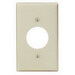 Leviton 86004 Standard Size 1-Gang Single Receptacle Plate; Device Mount, Thermoset, Ivory