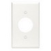 Leviton 88004 Standard Size 1-Gang Single Receptacle Plate; Device Mount, Thermoset, White