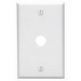 Leviton 88017 Standard Size 1-Gang Wallplate; Box Mount, Thermoset, White