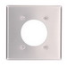 Leviton 83026 Standard Size 2-Gang Single Receptacle Plate; Device Mount, Aluminum