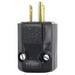 Leviton 5266-N Black & White® Polarized Grounding Python Straight Blade Plug; 15 Amp, 125 Volt, 2-Pole, 3-Wire, NEMA 5-15P, Black
