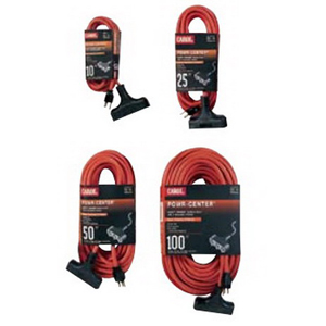 Carol 00696.63.04 Powr-Center® SJTW Extension Cord; 50 ft, 15 Amp, 125 Volt, Orange