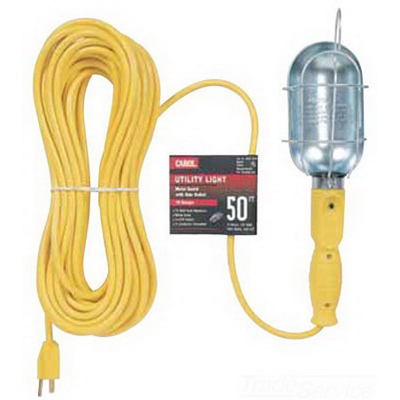 Carol 04457.60.05 Utility Light; 13 Amp, 125 Volt, Yellow