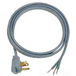 Carol 04803.73.10 SPT-3 Power Supply Replacement Cord; 16/3 AWG, 3 ft, 13 Amp, 125 Volt, Straight plug, PVC Jacket, Gray