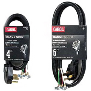 Carol® 05604.63.10 SRDT Replacement Range Cord; 8/1-6/2 AWG, 4 ft, 50 Amp, 250 Volt, PVC Jacket, Gray