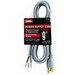 Carol 04949.60.10 SJT Power Supply Replacement Cord; 16/3 AWG, 9 ft, 13 Amp, 125 Volt, Straight plug, PVC Jacket, Gray