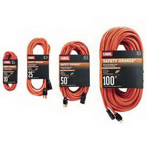 Carol 03354.63.04 Safety Orange® SJTW Extension Cord; 50 ft, 13 Amp, 125 Volt, Orange