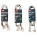 Carol 00436.63.17 SPT-3 Major Appliance Cord; 14/3 AWG, 6 ft, 15 Amp, 125 Volt, Molded Right Angle plug, PVC Jacket, Beige