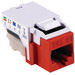 Hellermann Tyton RJ45FC5E-RED Category 5e Modular Keystone Jack; Mated Front x 110 IDC, Red