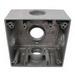 Mulberry 30251 2-Gang Weatherproof Lug Box; Surface, Die-Cast Aluminum, Gray