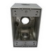 Mulberry 30583 Royal Mountie® Heavy Duty 1-Gang Deep Outlet Box; Surface, Die-Cast Aluminum, Gray