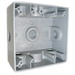 Mulberry 30267 2-Gang Weatherproof Lug Box; Surface, Die-Cast Aluminum, Gray